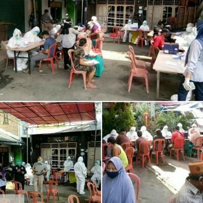 Putus Penyebaran Covid-19, Pedagang Pasar Kober Kelurahan Papanggo Ikuti Swab Test