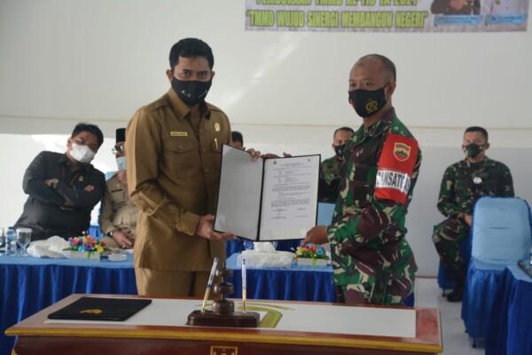 Pembukaan Peresmian TMMD Ke 110/Natuna Oleh Bupati Natuna Di Gedung Wanita Kabupaten Natuna
