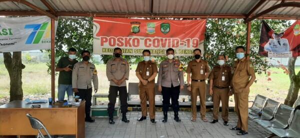 Polsek Tambelang Melakukan Koordinasi Penerapan PPKM Darurar Level Empat